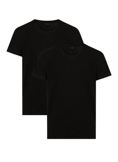 Penti Siyah Basic Supima Regular 2Li Tişört Siyah